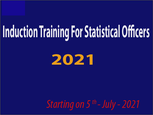 Induction Training For Statistical Officers - 2021 May Intake