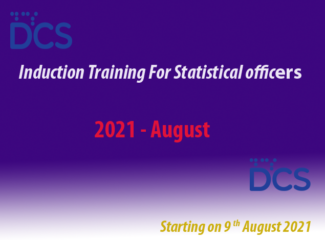 Induction Training For Statistical Officers - August 2021